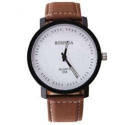 Reloj Rosinga malla cuero marrón