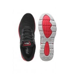 Calzado Deportivo Fila Queue Blaze negro con rojo